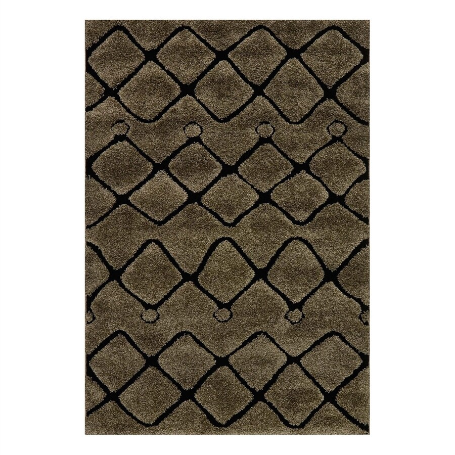 Loloi Enchant Smoke/Black Rectangular Indoor Machine-Made Area Rug (Common: 3 x 5; Actual: 3.83-ft W x 5.58-ft L)