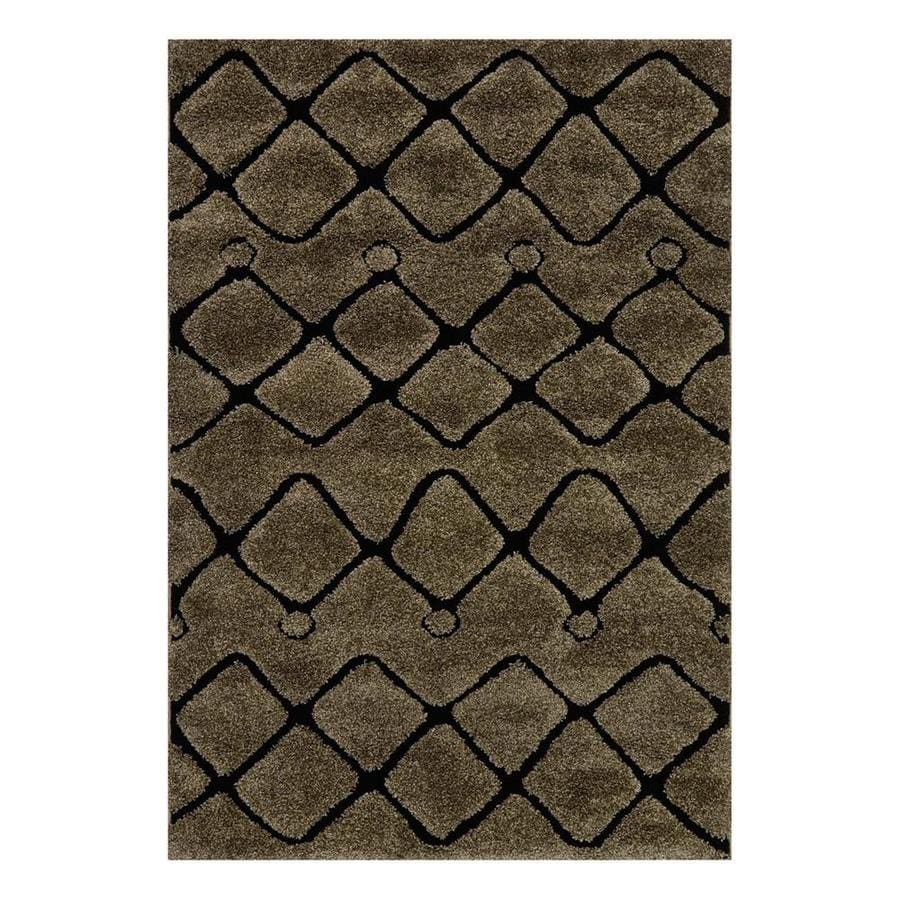 Loloi Enchant Smoke/Black Square Indoor Machine-Made Area Rug (Common: 7 x 7; Actual: 7.58-ft W x 7.58-ft L)