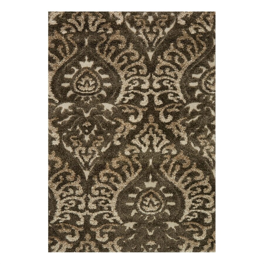 Loloi Enchant Smoke/Beige Rectangular Indoor Machine-Made Throw Rug (Common: 2 x 3; Actual: 2.25-ft W x 3.75-ft L)