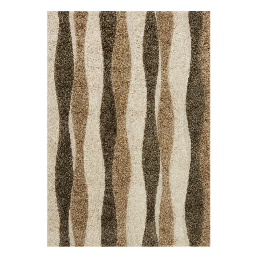Loloi Enchant Neutral Rectangular Indoor Machine-Made Area Rug (Common: 5 x 7; Actual: 5.25-ft W x 7.58-ft L)
