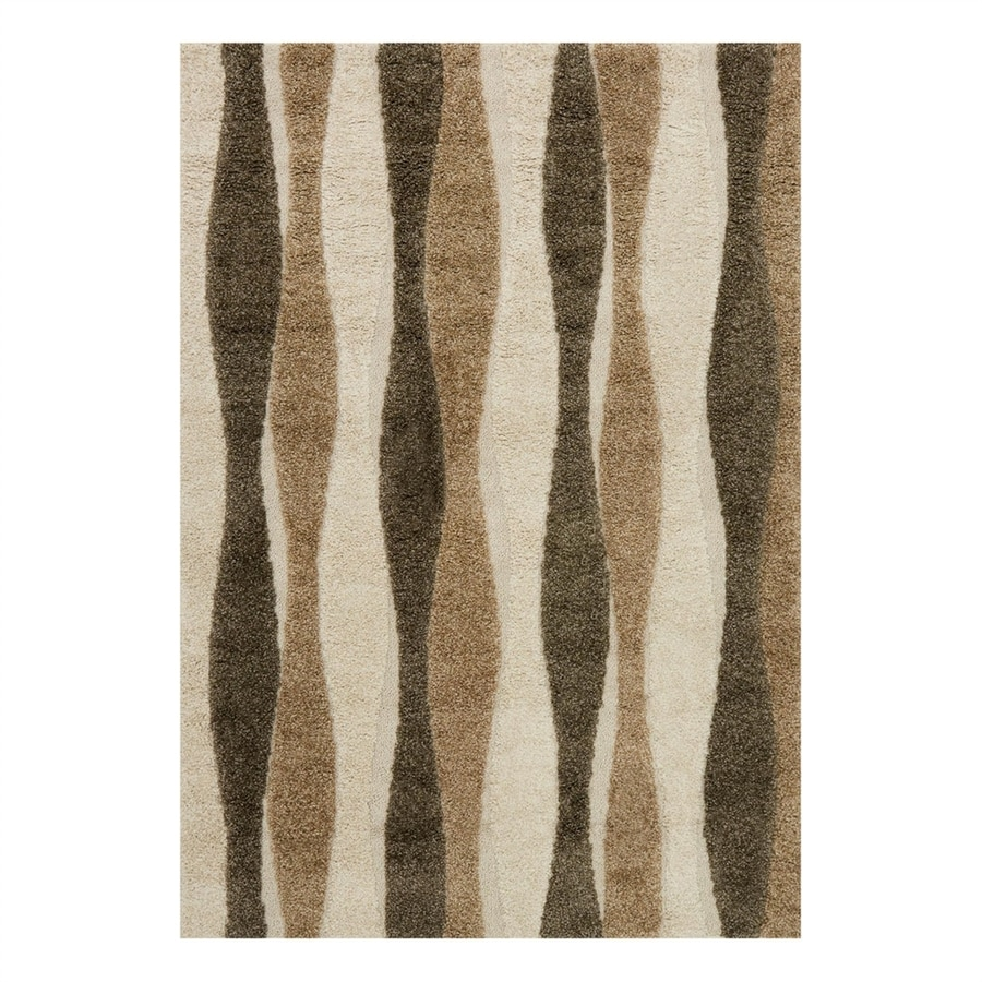 Loloi Enchant Neutral Rectangular Indoor Machine-Made Area Rug (Common: 7 x 10; Actual: 7.58-ft W x 10.5-ft L)