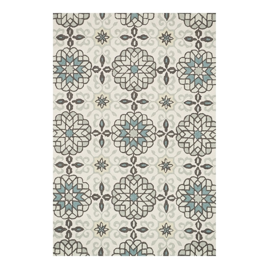 Loloi Francesca Ivory/Metal Rectangular Indoor Handcrafted Area Rug (Common: 3 x 5; Actual: 3.5-ft W x 5.5-ft L)