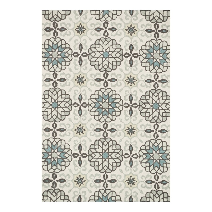 Loloi Francesca Ivory/Metal Rectangular Indoor Handcrafted Area Rug (Common: 5 x 7; Actual: 5-ft W x 7.5-ft L)