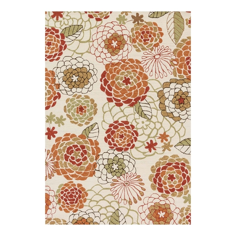 Loloi Francesca Ivory/Spice Rectangular Indoor Handcrafted Nature Area Rug (Common: 5 x 7; Actual: 5-ft W x 7.5-ft L)