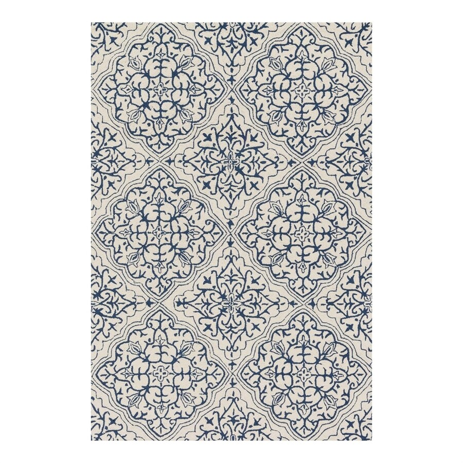 Loloi Francesca Ivory/Blue Rectangular Indoor Handcrafted Area Rug (Common: 2 x 4; Actual: 2.25-ft W x 3.75-ft L)