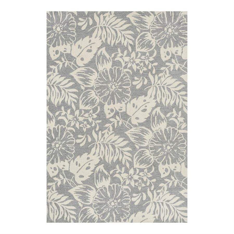 Loloi Francesca Grey/Ivory Rectangular Indoor Handcrafted Nature Area Rug (Common: 3 x 5; Actual: 3.5-ft W x 5.5-ft L)