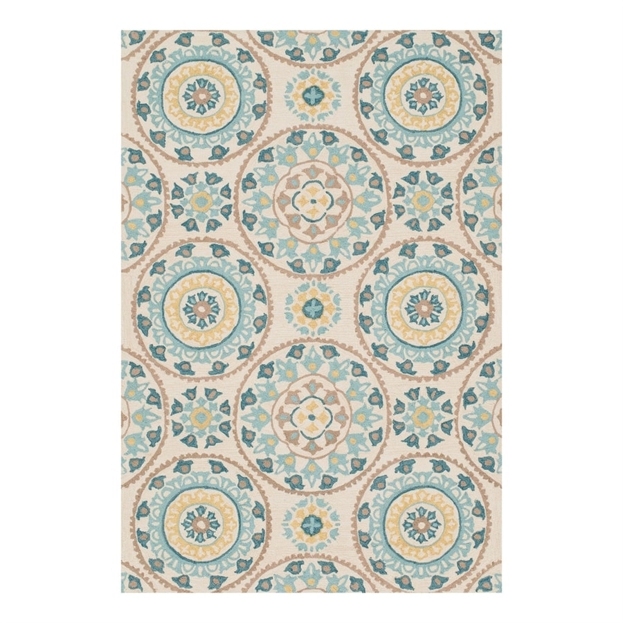 Loloi Francesca Ivory/Beige Rectangular Indoor Handcrafted Area Rug (Common: 3 x 5; Actual: 3.5-ft W x 5.5-ft L)