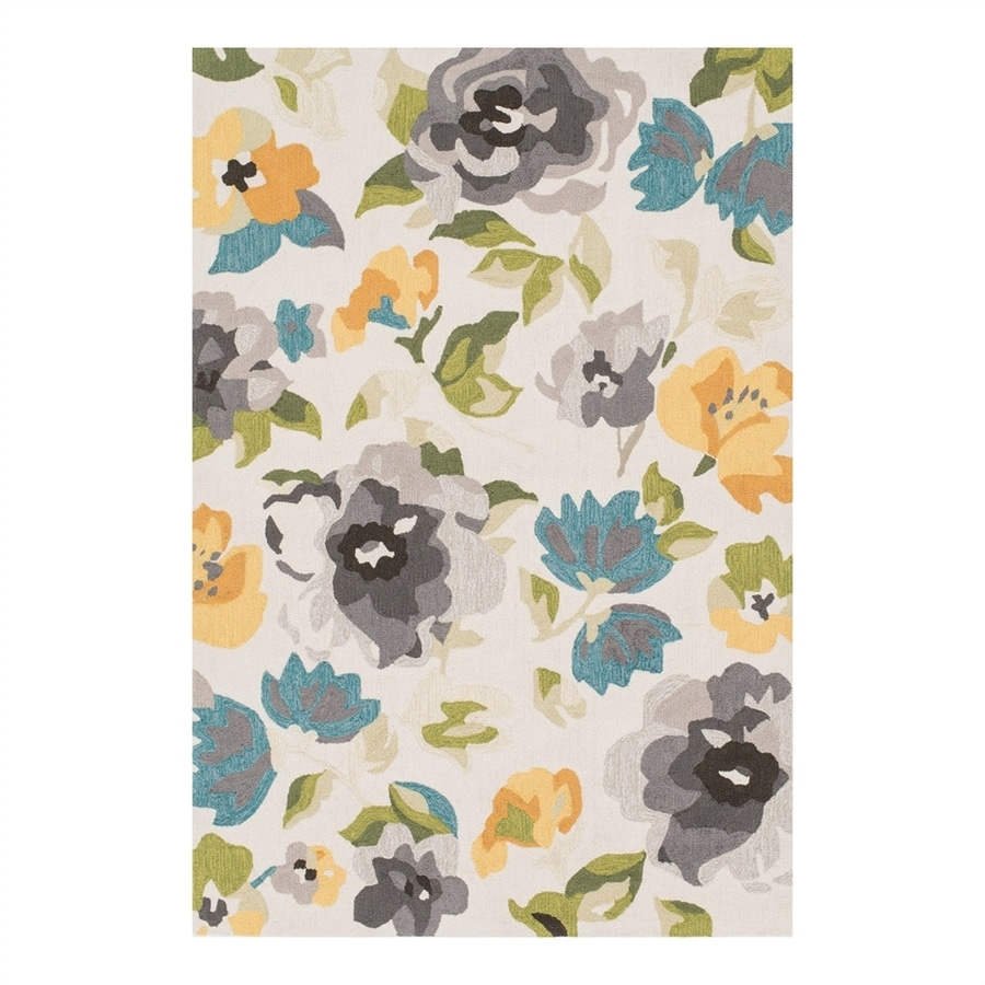Loloi Francesca Grey/Yellow Rectangular Indoor Handcrafted Nature Area Rug (Common: 4 x 5; Actual: 3.75-ft W x 5.5-ft L)
