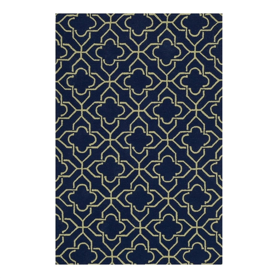 Loloi Francesca Navy/Green Rectangular Indoor Handcrafted Area Rug (Common: 3 x 5; Actual: 3.5-ft W x 5.5-ft L)