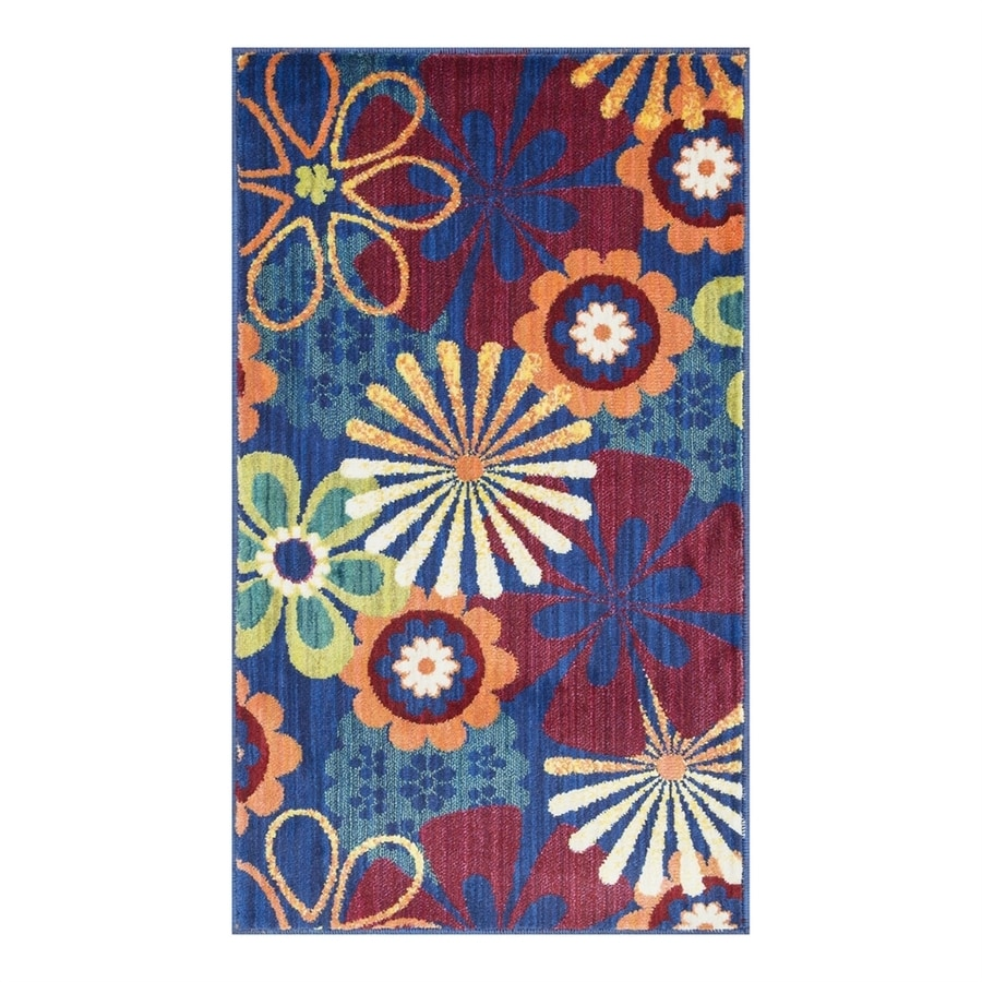 Loloi Isabelle Blue/Multi Rectangular Indoor Throw Rug (Common: 1-1/2 x 2-1/2; Actual: 1.58-ft W x 2.5-ft L)