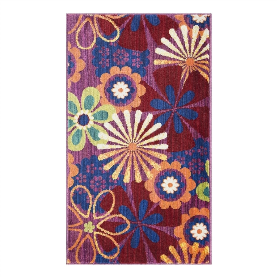 Loloi Isabelle Pink/Multi Rectangular Indoor Throw Rug (Common: 2 x 3; Actual: 2.16-ft W x 3.75-ft L)