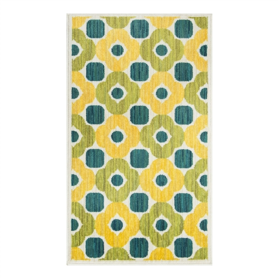 Loloi Isabelle Green/Multi Rectangular Indoor Throw Rug (Common: 1-1/2 x 2-1/2; Actual: 1.58-ft W x 2.5-ft L)