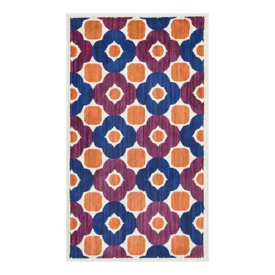 Loloi Isabelle Pink/Multi Rectangular Indoor Throw Rug (Common: 1-1/2 x 2-1/2; Actual: 1.58-ft W x 2.5-ft L)