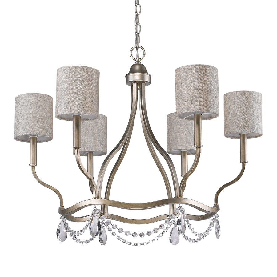 Acclaim Lighting Margaret 30.5-in 6-Light Washed gold Country Cottage Shaded Chandelier