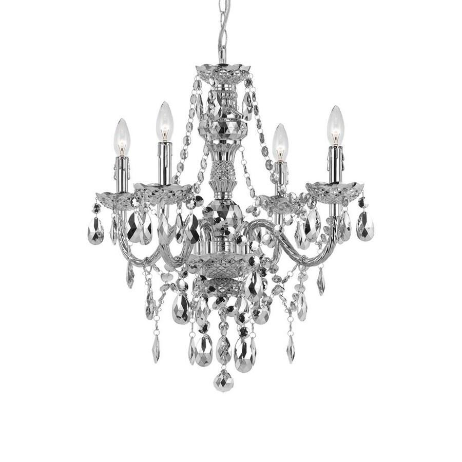 Shop af lighting elements 215 in 4 light silver crystal candle af lighting elements 215 in 4 light silver crystal candle chandelier aloadofball Gallery