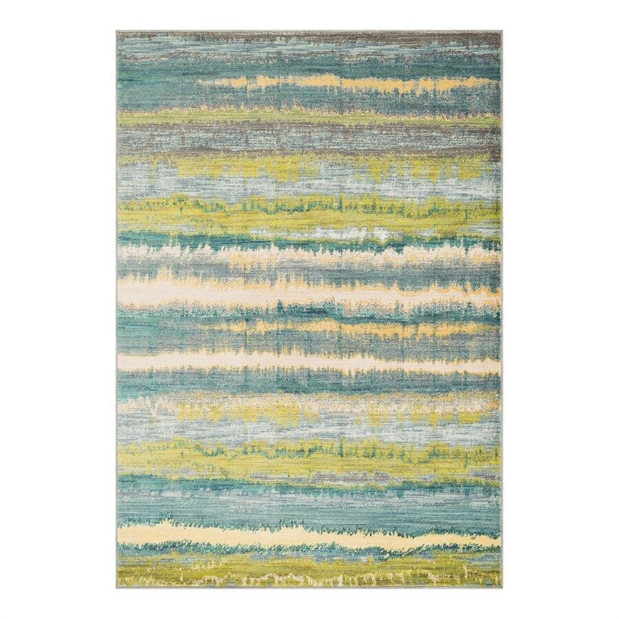 Loloi Lyon Teal/Multi Rectangular Indoor Area Rug (Common: 3 x 5; Actual: 3.75-ft W x 5.16-ft L)
