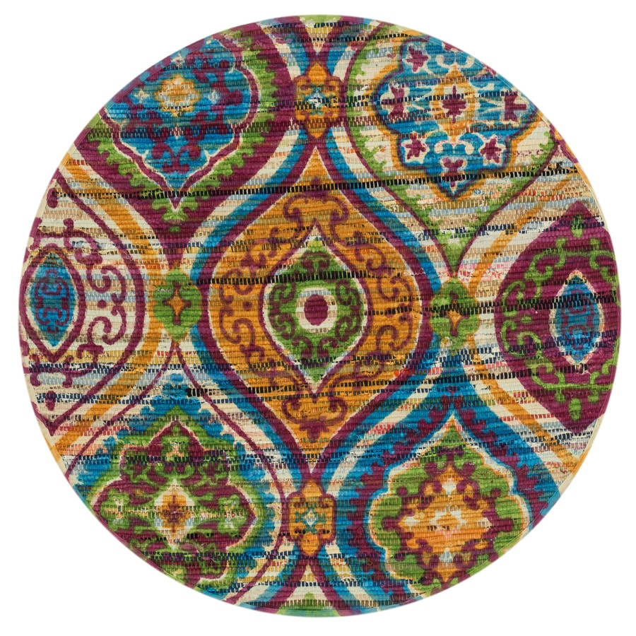 Loloi Aria Multicolor Round Indoor Handcrafted Area Rug Common Actual 3