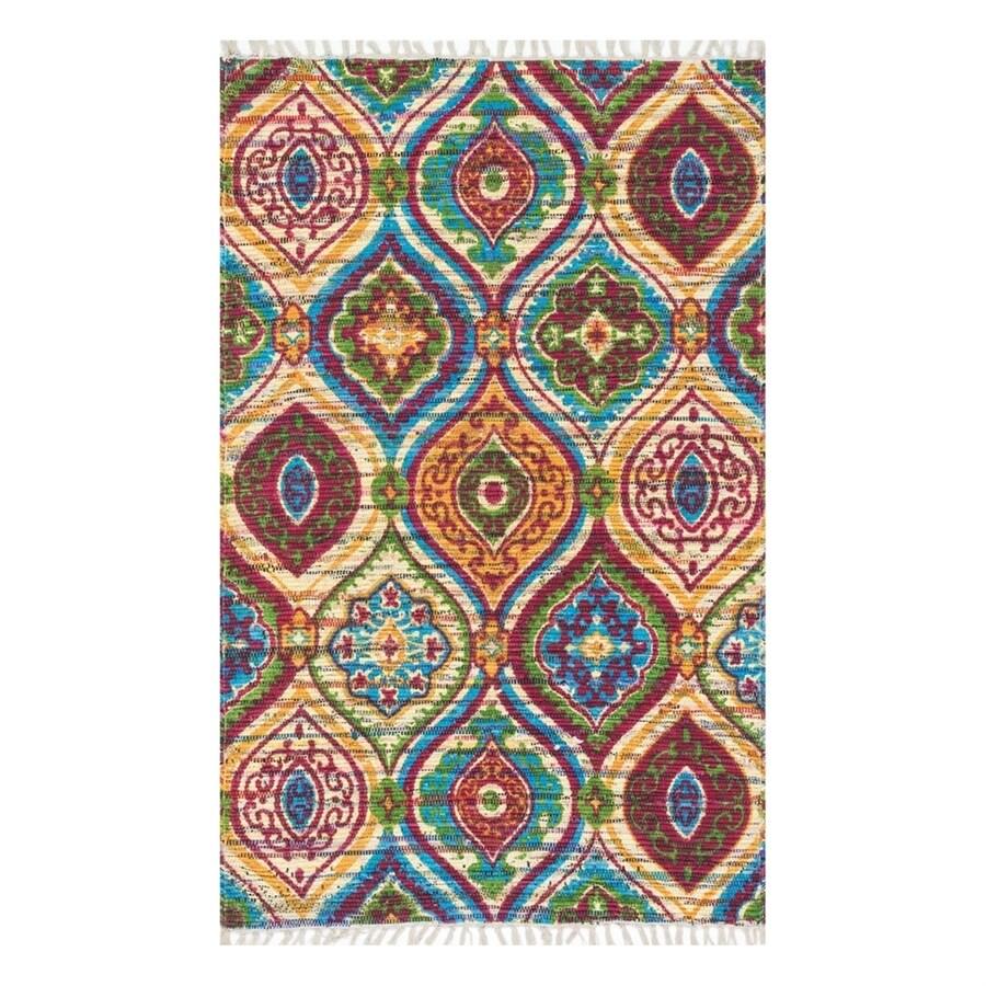 Loloi Aria Multicolor Rectangular Indoor Handcrafted Area Rug (Common: 4 x 6; Actual: 3.5-ft W x 5.5-ft L)