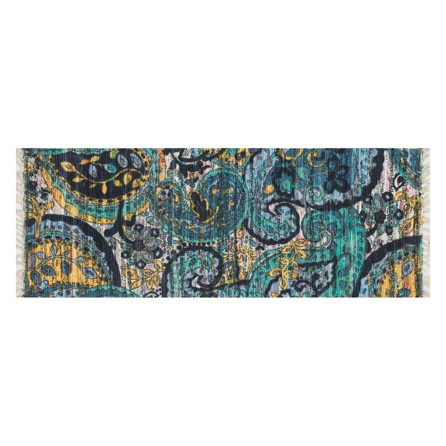 Loloi Aria Blue/Multicolor Rectangular Indoor Handcrafted Runner (Common: 2 x 5; Actual: 1.75-ft W x 5-ft L)