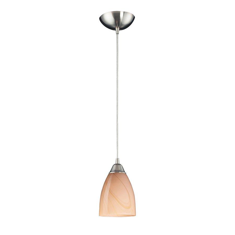 Westmore Lighting Undara 5-in Satin Nickel Mini Art Glass Bell Pendant
