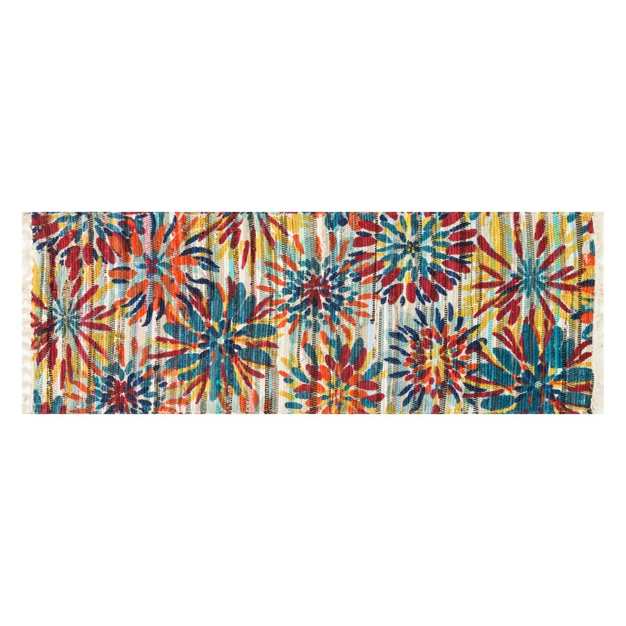 Loloi Aria Ivory/Multicolor Rectangular Indoor Handcrafted Nature Runner (Common: 2 x 5; Actual: 1.75-ft W x 5-ft L)