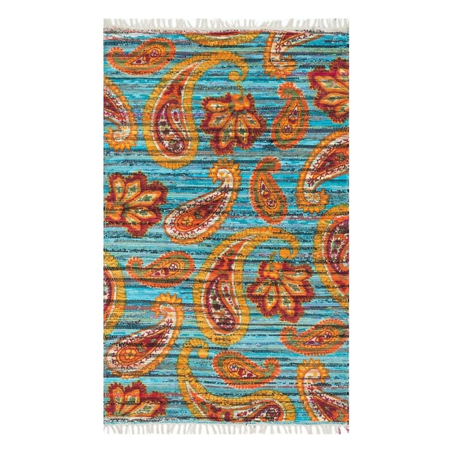 Loloi Aria Blue/Multicolor Rectangular Indoor Handcrafted Area Rug (Common: 2 x 4; Actual: 2.25-ft W x 3.75-ft L)