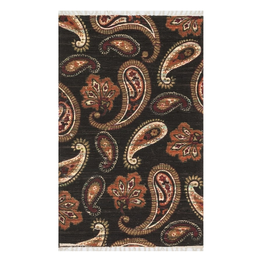 Loloi Aria Chocolate/Rust Rectangular Indoor Handcrafted Area Rug (Common: 2 x 3; Actual: 1.667-ft W x 3-ft L)