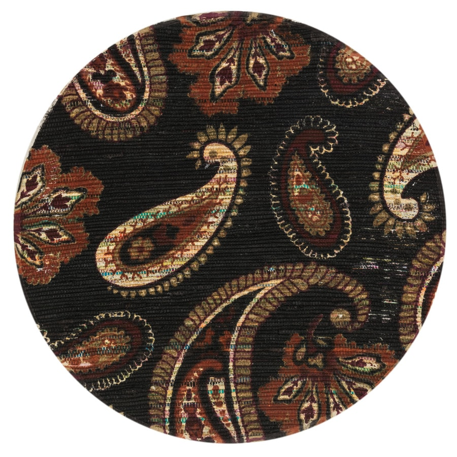 Loloi Aria Chocolate/Rust Round Indoor Handcrafted Area Rug (Common:; Actual: W x L x 3-ft dia)