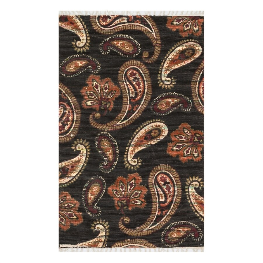Loloi Aria Chocolate/Rust Rectangular Indoor Handcrafted Area Rug (Common: 4 x 6; Actual: 3.5-ft W x 5.5-ft L)