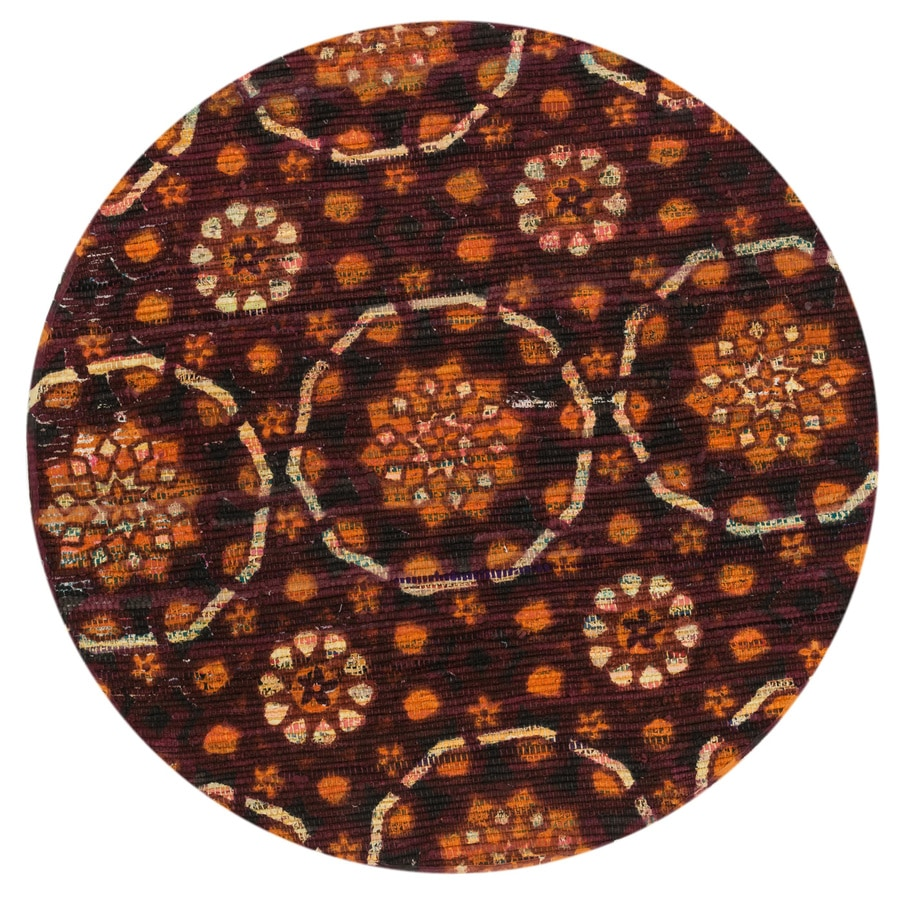 Loloi Aria Spice Round Indoor Handcrafted Area Rug (Common:; Actual: W x L x 3-ft dia)
