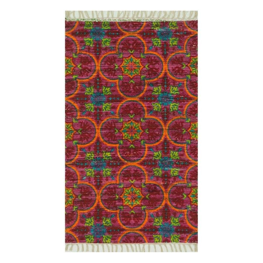 Loloi Aria Berry/Multicolor Rectangular Indoor Handcrafted Throw Rug (Common: 2 x 4; Actual: 1.667-ft W x 3-ft L)