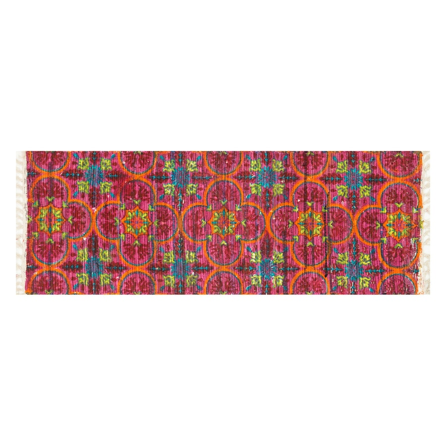 Loloi Aria Berry/Multicolor Rectangular Indoor Handcrafted Runner (Common: 2 x 5; Actual: 1.75-ft W x 5-ft L)