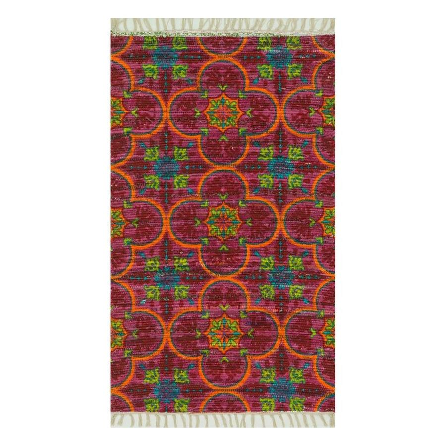 Loloi Aria Berry/Multicolor Rectangular Indoor Handcrafted Area Rug (Common: 2 x 4; Actual: 2.25-ft W x 3.75-ft L)