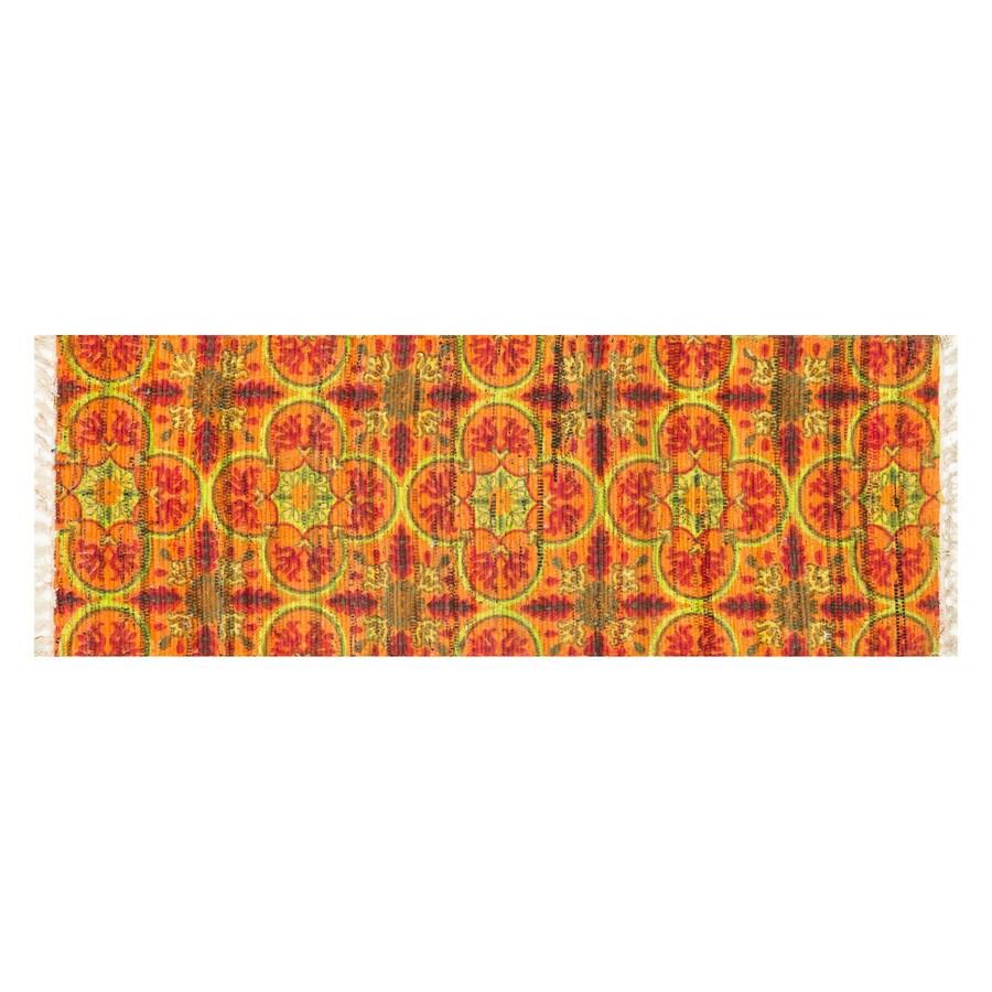 Loloi Aria Orange/Multicolor Rectangular Indoor Handcrafted Runner (Common: 2 x 4; Actual: 1-ft 9-in W x 5-ft L)