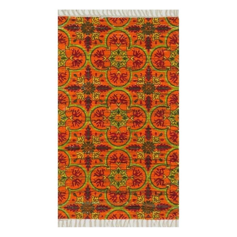 Loloi Aria Orange/Multicolor Rectangular Indoor Handcrafted Area Rug (Common: 3 x 5; Actual: 2.25-ft W x 3.75-ft L)