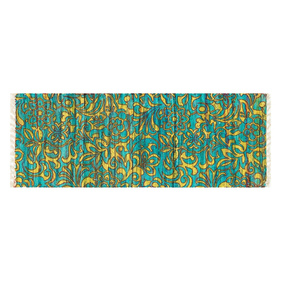 Loloi Aria Lime/Teal Rectangular Indoor Handcrafted Runner (Common: 2 x 5; Actual: 1.75-ft W x 5-ft L)