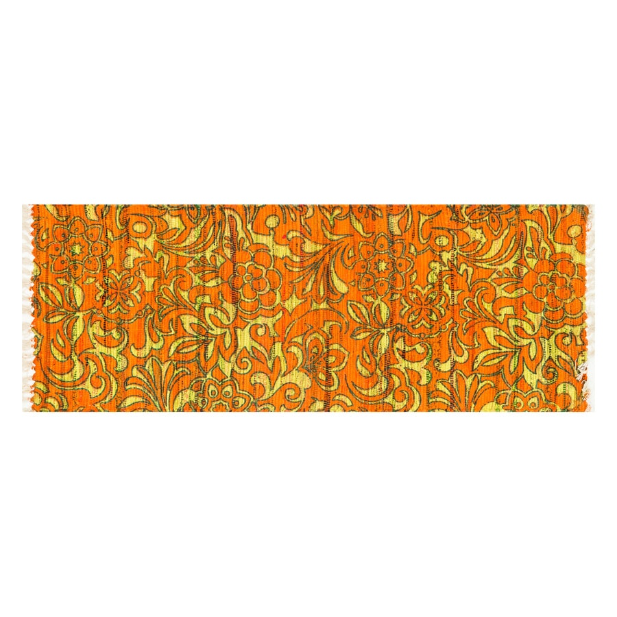 Loloi Aria Orange/Lime Rectangular Indoor Handcrafted Runner (Common: 2 x 5; Actual: 1.75-ft W x 5-ft L)