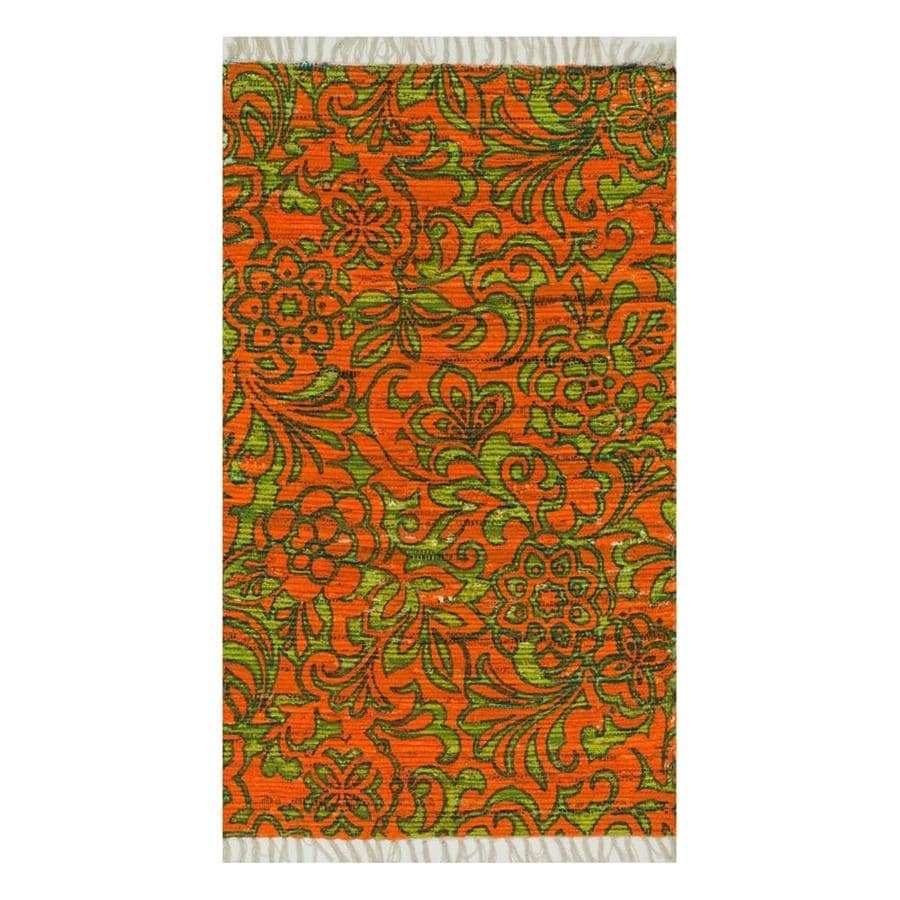 Loloi Aria Orange/Lime Rectangular Indoor Handcrafted Area Rug (Common: 4 x 6; Actual: 3.5-ft W x 5.5-ft L)