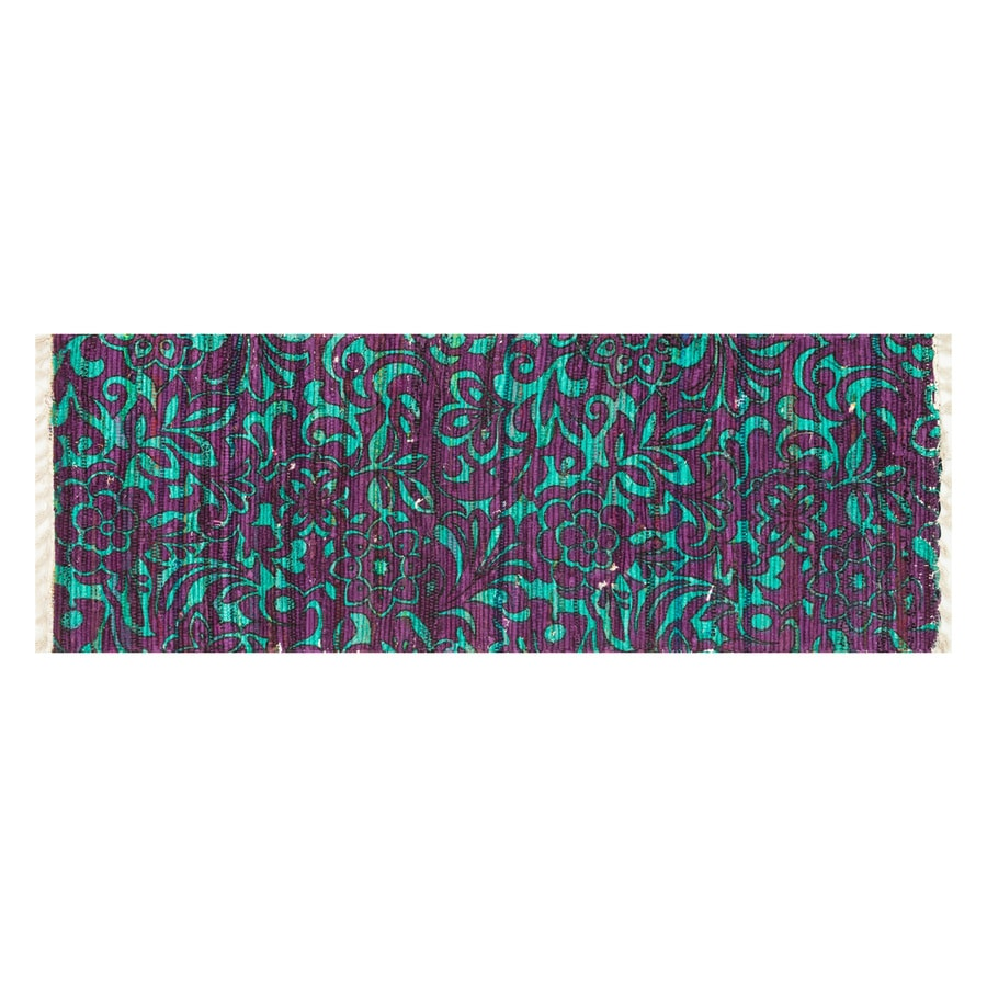 Loloi Aria Purple/Turquoise Rectangular Indoor Handcrafted Runner (Common: 2 x 5; Actual: 1.75-ft W x 5-ft L)