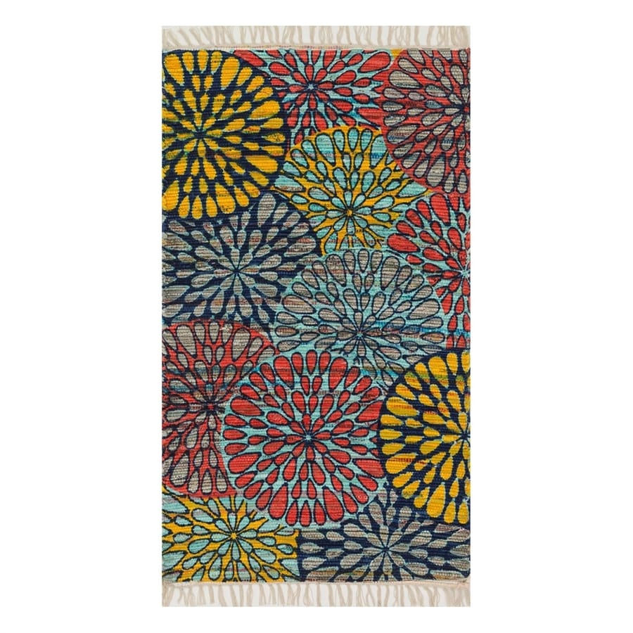 Loloi Aria Light Blue Rectangular Indoor Handcrafted Area Rug (Common: 4 x 6; Actual: 3.5-ft W x 5.5-ft L)