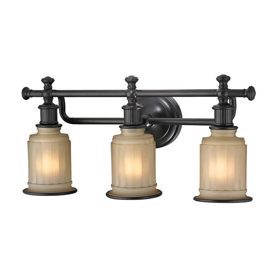 Westmore Lighting Nicolette 3-Light 10-in Oil Rubbed Bronze Cylinder Vanity Light