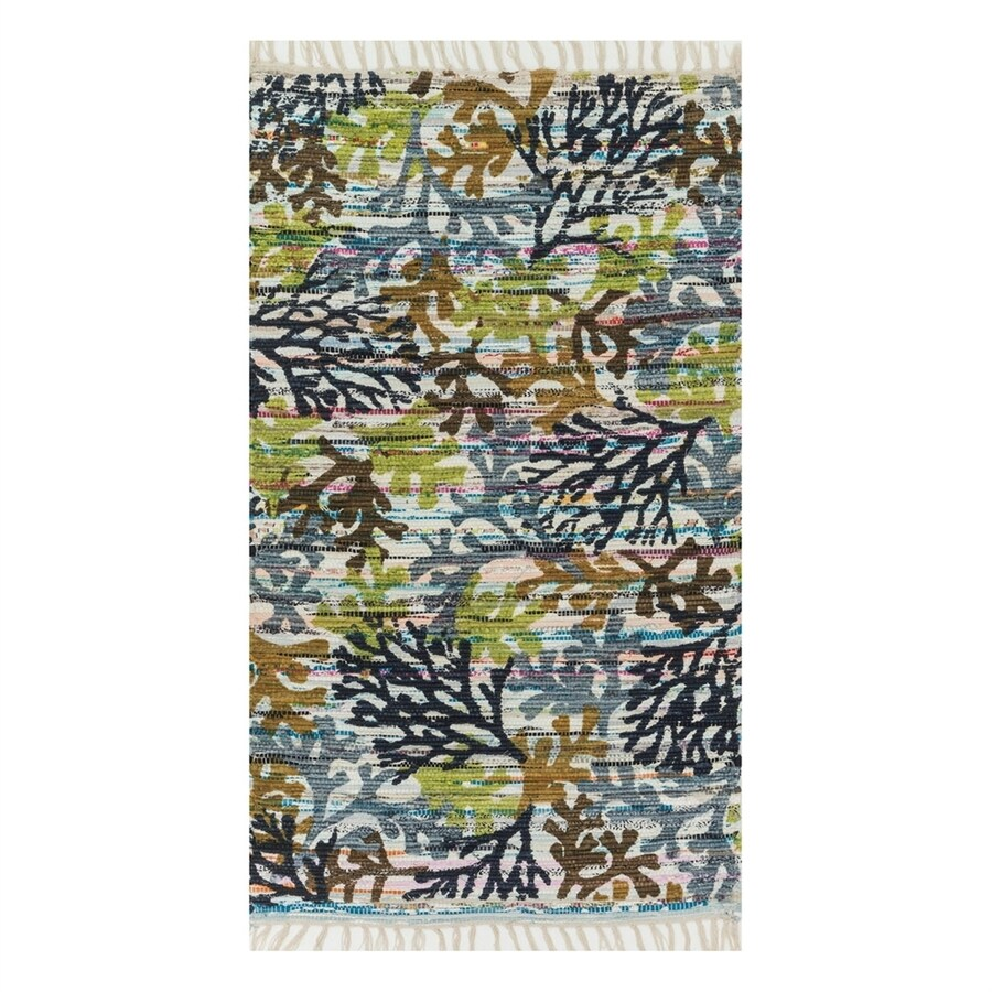Loloi Aria Grey Rectangular Indoor Handcrafted Nature Area Rug (Common: 2 x 4; Actual: 2.25-ft W x 3.75-ft L)