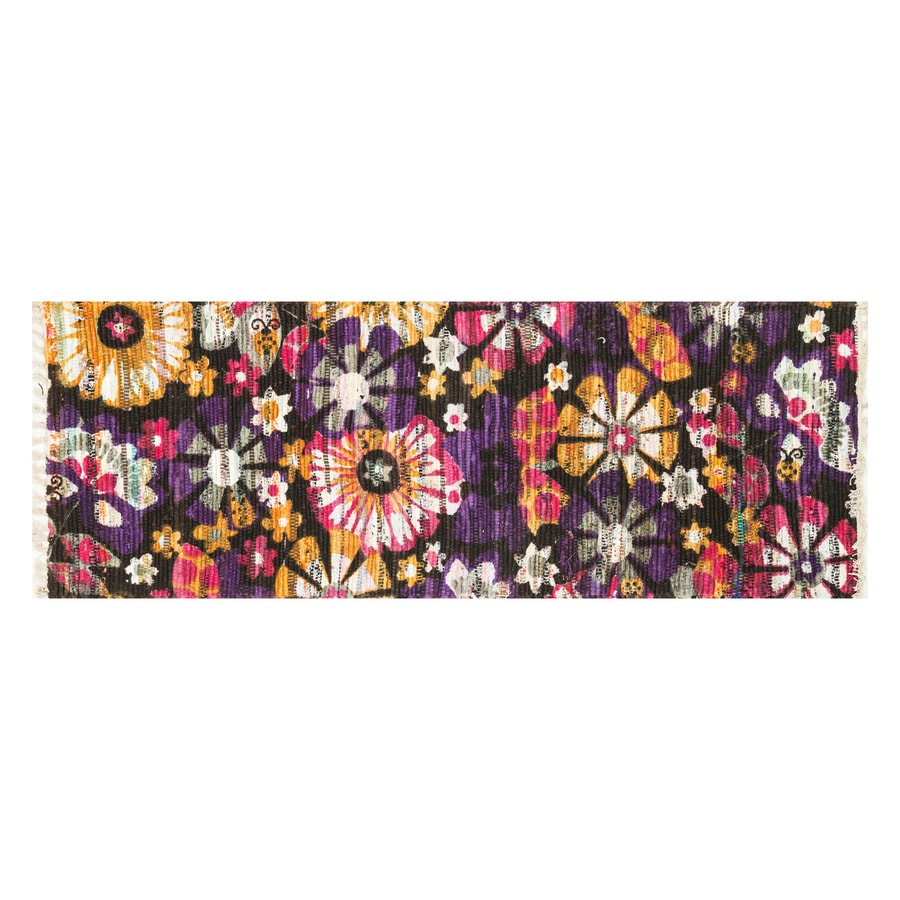 Loloi Aria Violet/Gold Rectangular Indoor Handcrafted Nature Runner (Common: 2 x 5; Actual: 1.75-ft W x 5-ft L)