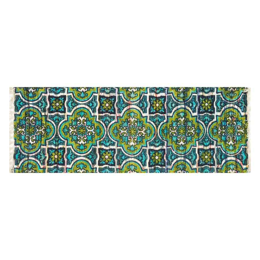 Loloi Aria Blue/Lime Rectangular Indoor Handcrafted Area Rug (Common: 2 x 5; Actual: 1.75-ft W x 5-ft L)