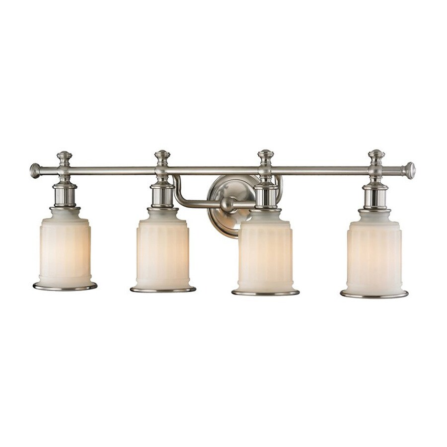 Westmore Lighting Nicolette 4-Light 10-in Brushed Nickel Cylinder Vanity Light