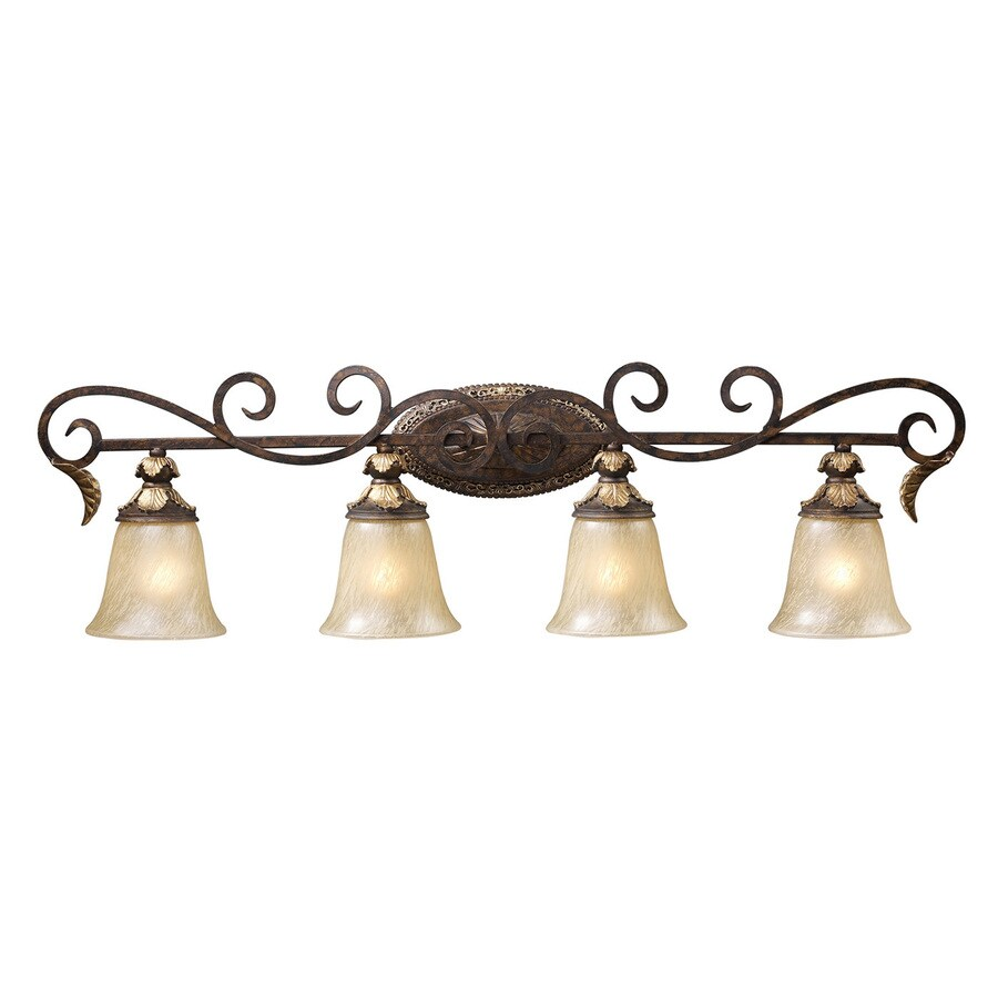 Westmore Lighting Hearst 4-Light 11-in Burnt Bronze Bell Vanity Light