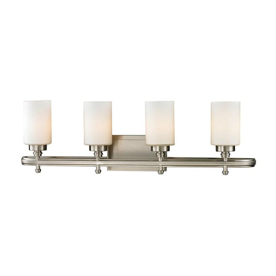 Westmore Lighting Balfour 4-Light 10-in Brushed Nickel Cylinder Vanity Light