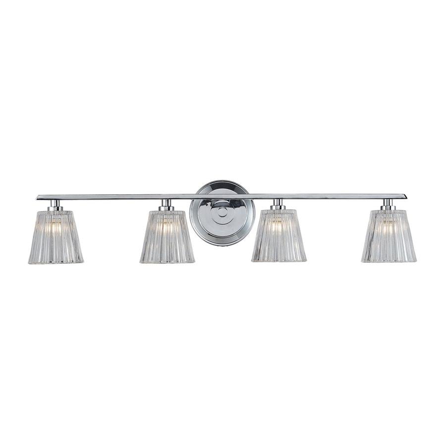 Westmore Lighting Quai 4-Light 7-in Polished Chrome Bell Vanity Light