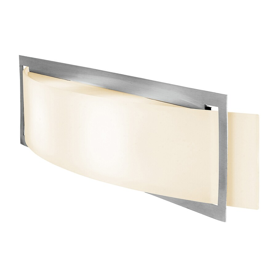 Access Lighting Argon 22.5-in W 1-Light Brushed Steel Pocket Hardwired Integrated LED Wall Sconce