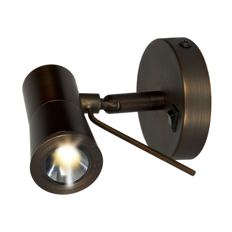 Lowes Wall Lights Plug In : Shop Access Lighting Cyprus 3.15-in W 1-Light Bronze Arm Plug-in LED Wall Sconce at Lowes.com